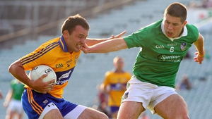 Limerick's John Riordan and match-winner David Tubridy of Clare