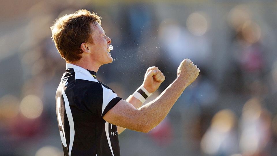 Sligo's Charlie Harrison celebrates at the final whistle
