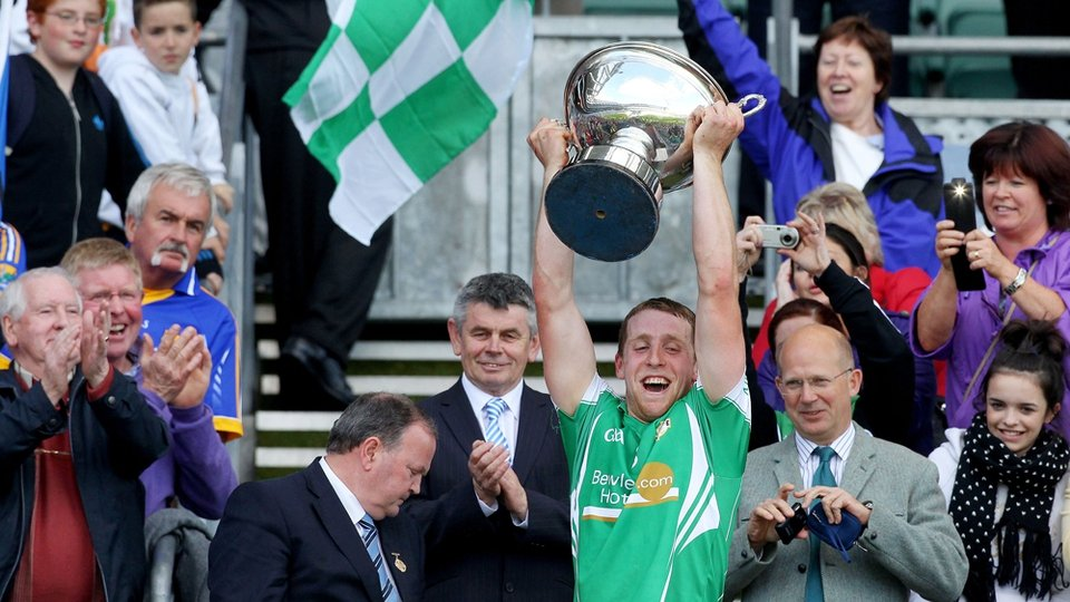 London's Colm Quinn lifts the Christy Ring Cup