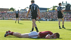 A dejected Gary O'Donnell of Galway after missing a scoring chance