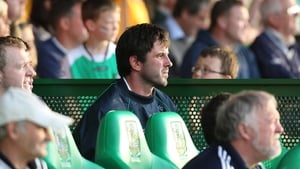 Injured Limerick star John Galvin on the substitutes' bench