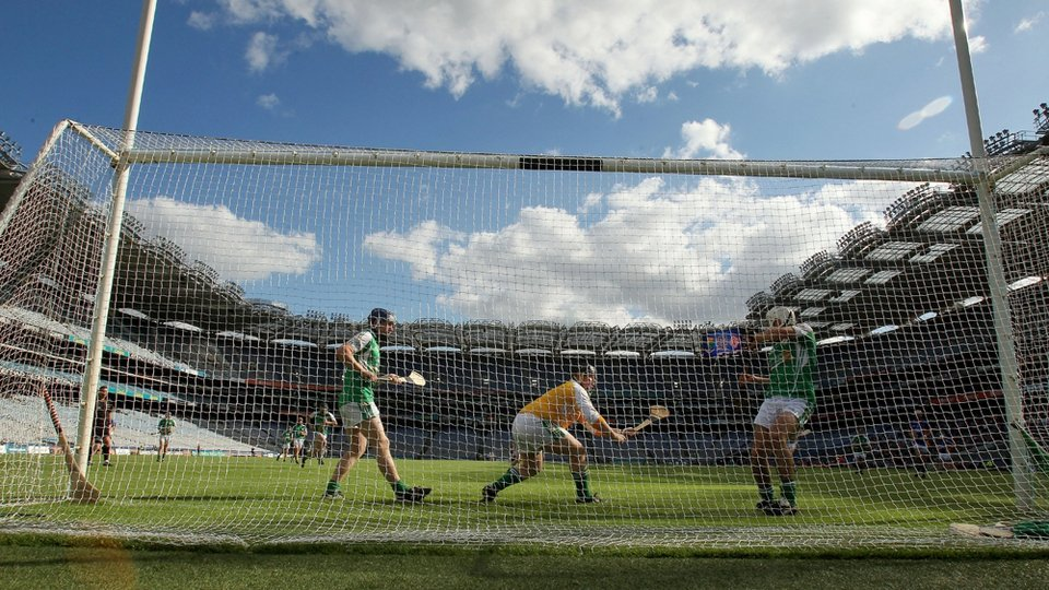 London's Tommy Williams saves a penalty in the closing minutes of the Christy Ring Cup final