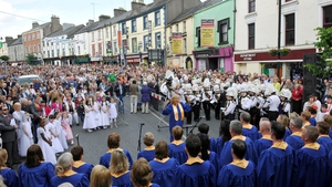 Bishop Michael Smith presided at the open-air mass in Mullingar