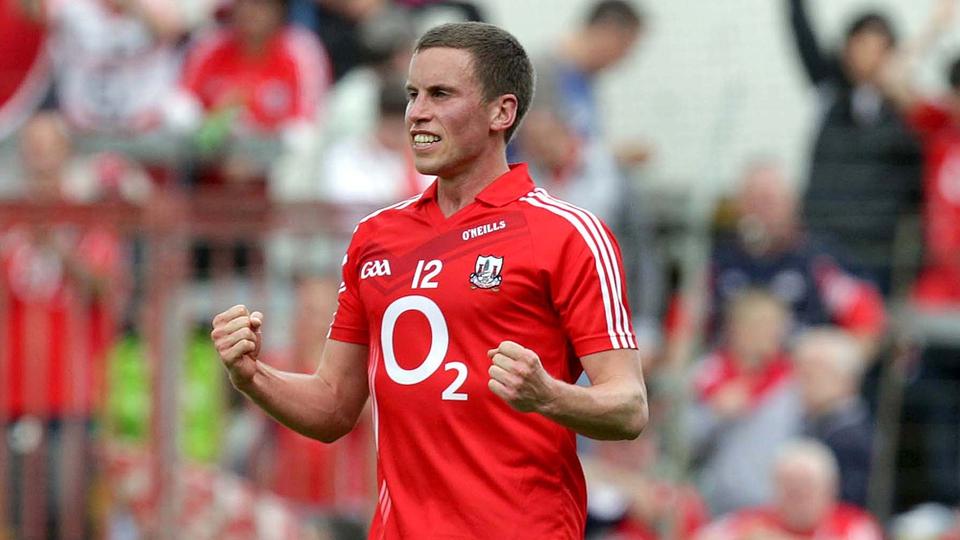 Cork's Patrick Kelly celebrates at the final whistle