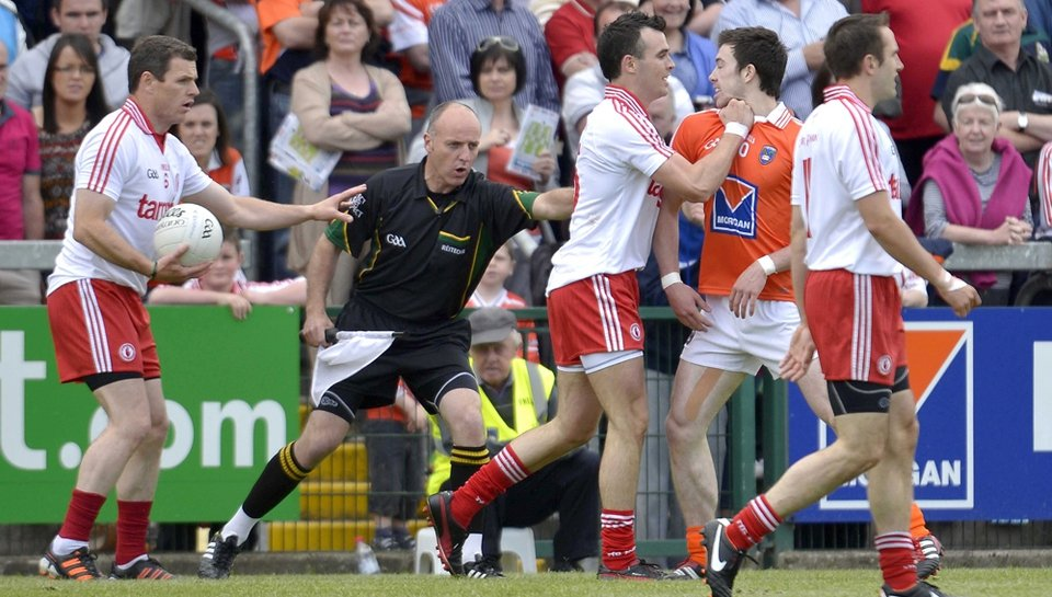 Tempers flare at the Athletic Grounds