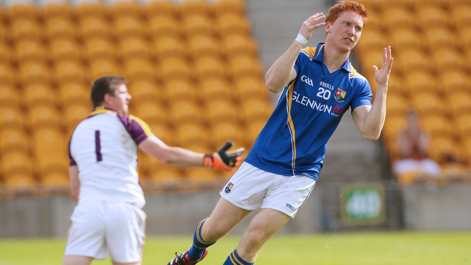 Longford's Paul Kelly reacts after missing a goal chance