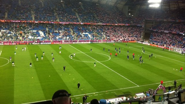 The view in the stadium before kick-off