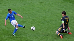 Antonio Di Natale opened the scoring for Italy in Gdansk