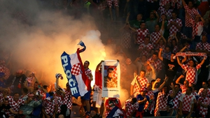 So it was the Croat fans who were celebrating in the end