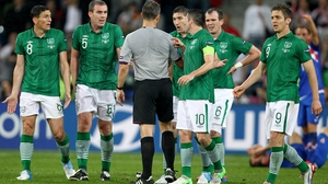 But Ireland wanted a free out for a foul on Stephen Ward in the build-up