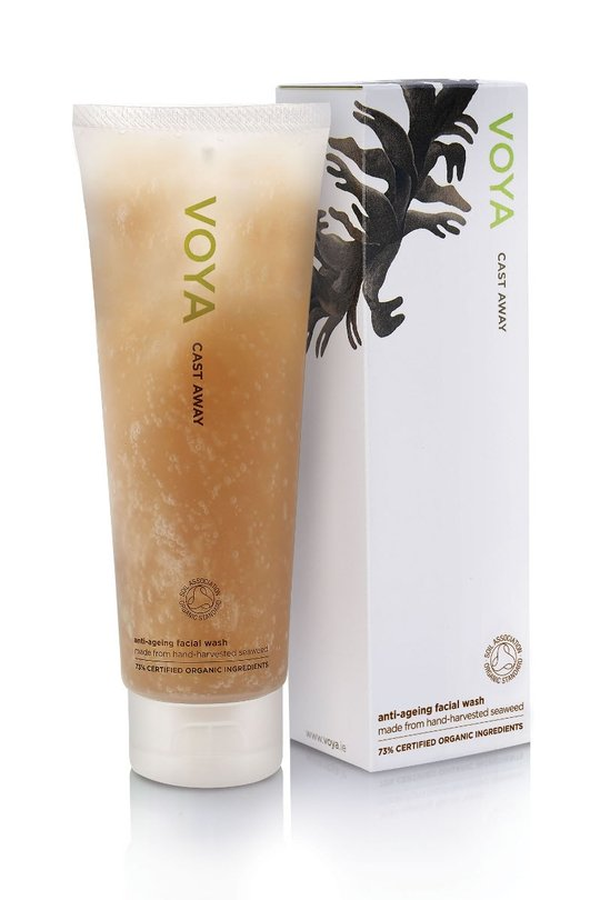 Try Voya's organic, chemical-free facial cleanser and shaving foam in one. Full of organic ingredien