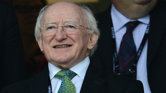 President Michael D Higgins is the first Irish head of State to visit the GAA's west London HQ