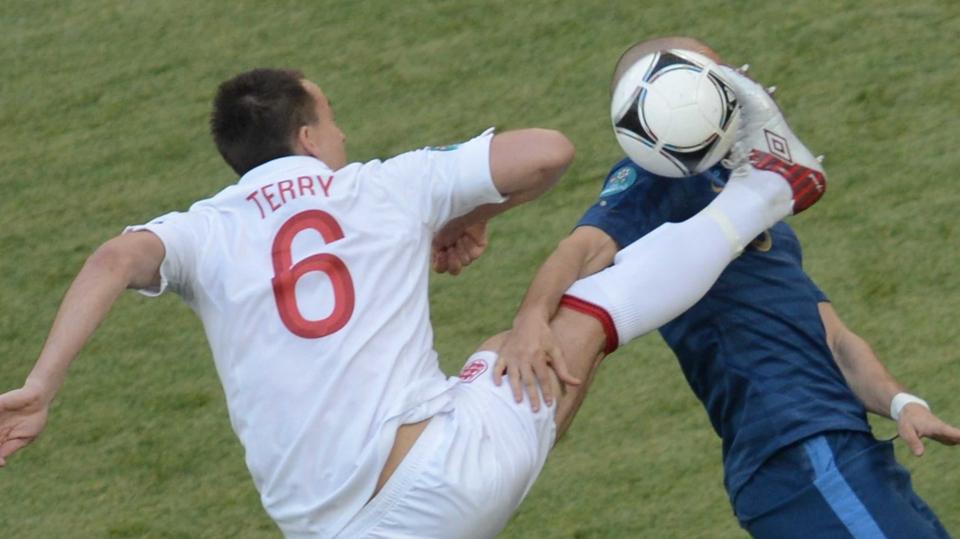 John Terry tackles Karim Benzema