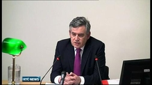 Gordon Brown before Leveson inquiry
