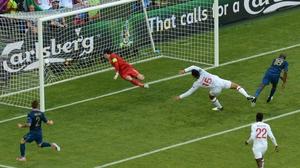 Joleon Lescott put England into the lead after half an hour