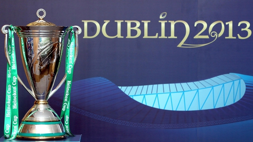The Heineken Cup and Amlin Challenge Cup finals will be held in Dublin next year but the 2014 deciders will take place in France