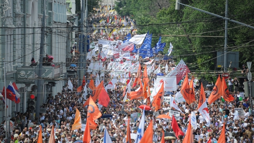 Up to an estimated 70,000 people protested in Moscow