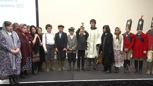 Children from north Kerry primary school performed their play at today's Congress