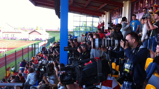 Media interest in the Spanish team is considerable