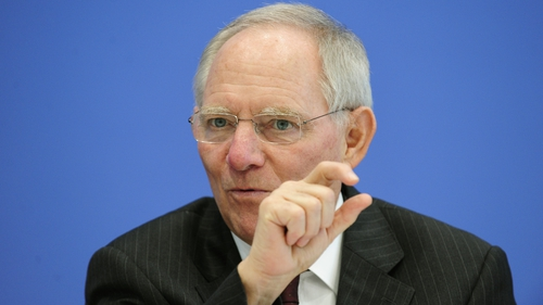 German Finance Minister Wolfgang Schaeuble has dismissed fears that the euro zone crisis might be starting up again