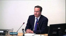 British PM David Cameron gives evidence at Leveson Inquiry