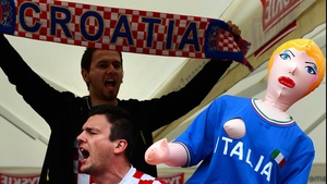 Croatia and Italy were also playing...