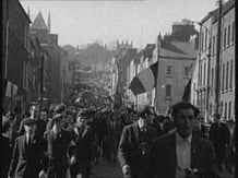 Tricolour Carried in Easter 1969 Commemoration Parade in Derry on 6 April, 1969.