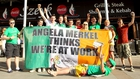 Irish fans celebrating Euro 2016 ticket success