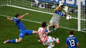 Mario Mandzukic equalised for the Croats though