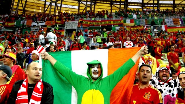 The Irish fans outnumbered and outsung their Spanish counterparts from start to finish