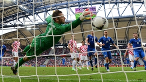 ...and Pirlo scores to put Italy 1-0 up
