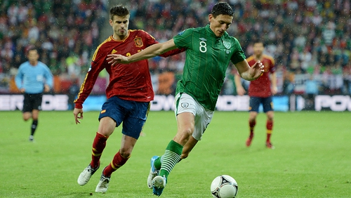 Keith Andrews has been named FAI Senior International Player of the Year