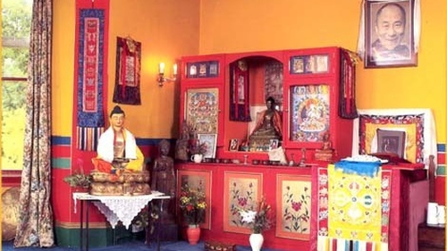 The Shrine Room at Jampa Ling Buddhist Centre