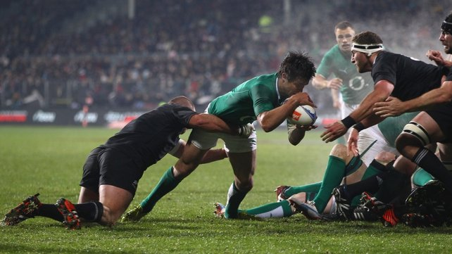 Conor Murray scored Ireland's only try in Christchurch