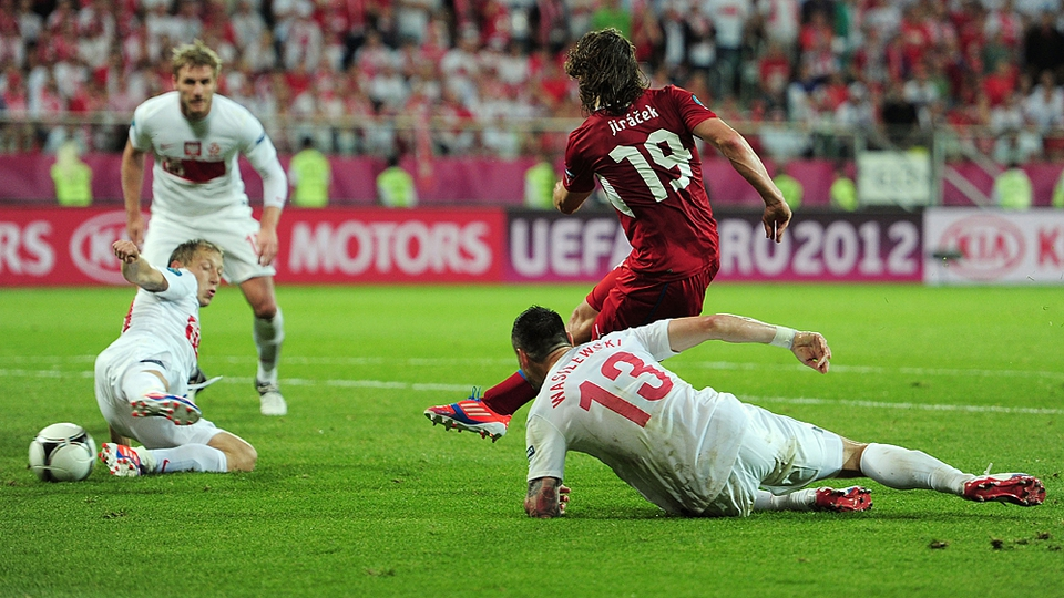 But Petr Jiracek's goal meat that it was the Czechs and the Greeks who would progress