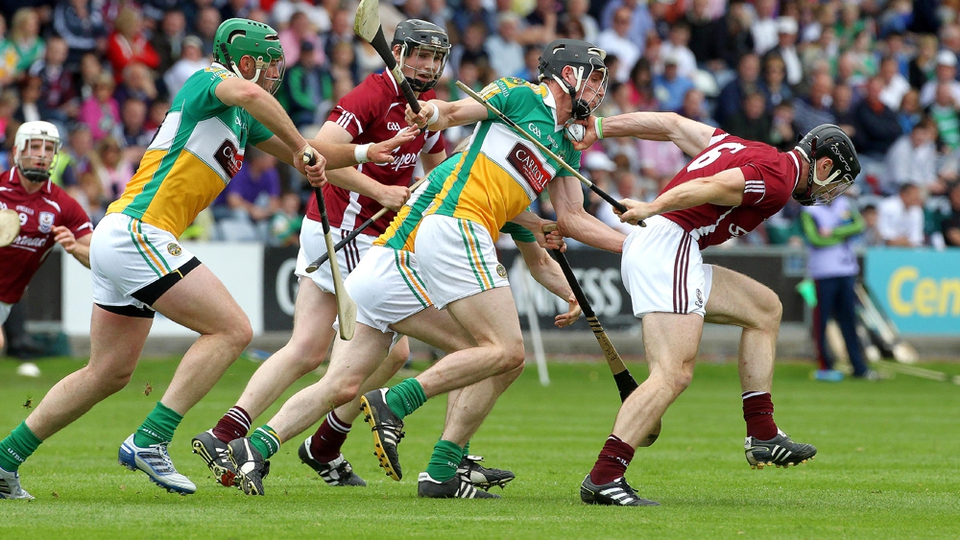 Regan comes away with possession as Galway ran out 5-23 to 3-15 winners