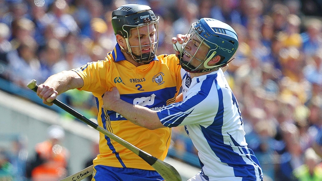 Clare's Domhnall O'Donovan and Gavin O'Brien of Waterford