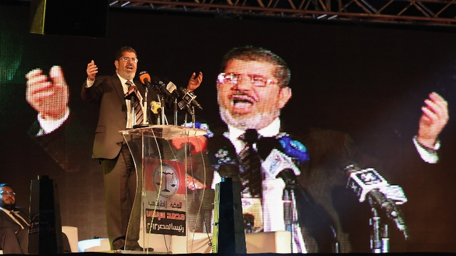 Mohammed Mursi is leading in election according to the electoral committee