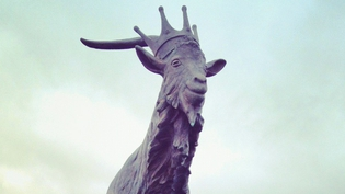 King Puck overseeing the town of Killorglin