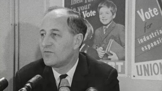 Captain Terence O'Neill pictured at a press conference on 21 February, 1969.