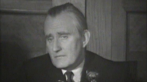 Major Chichester-Clark pictured at a press conference on 12 September 1969.