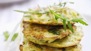 Irish leek and potato rosti