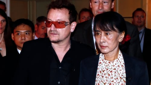 Bono had championed Aung San Suu Kyi's cause at many of the band's concerts