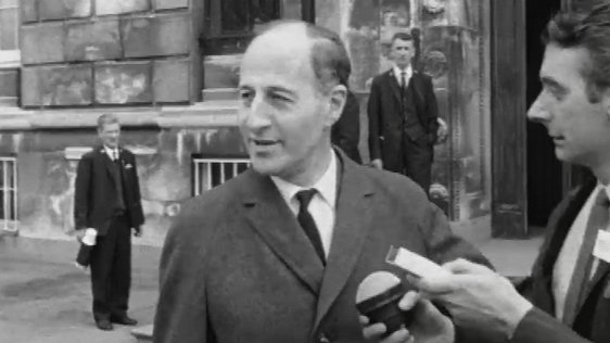 Captain Terence O'Neill leaving Stormont on 1 May, 1969.