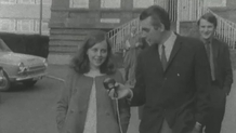 Bernadette Devlin pictured being interviewed by Don McManus for RTÉ News on the day of the election.