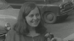 Bernadette Devlin pictured talking to RTÉ News on the day of the election, 17 April 1969.