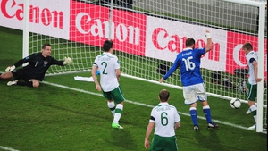 ...and Damien Duff can't prevent it crossing the line