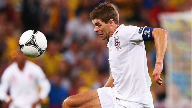 Steven Gerrard looks set to lead England against Sweden