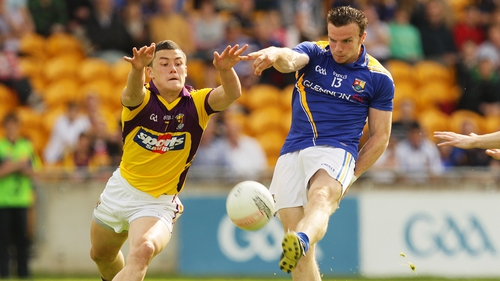 Lee Chin in action for Wexford against Longford in this year's Leinster championship