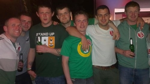 Pictured from left: Stephen Willoughby, Aidan Willoughby, Aaron Eustace, Niall Eustace, James Nolan, Adam Cullen and Eoin Burke